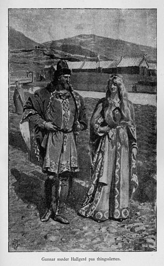 Njáls saga - Gunnar and Hallgerðr at the Althing