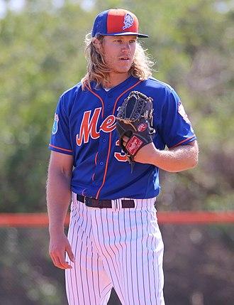 Noah Syndergaard - Syndergaard with the New York Mets in 2016