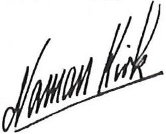 Norman Kirk - Image: Norman Kirk Signature