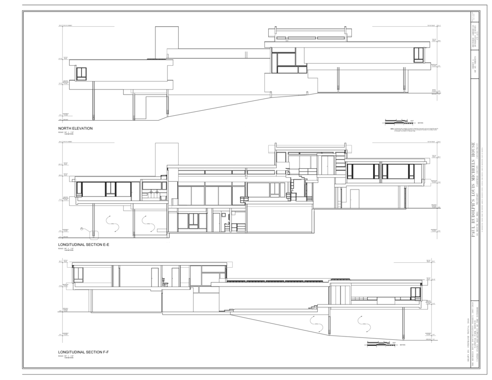 File North Elevation And Longitudinal Sections Paul