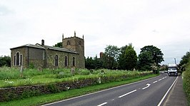 North Willingham Church and the A631 - geograph.org.uk - 305669.jpg