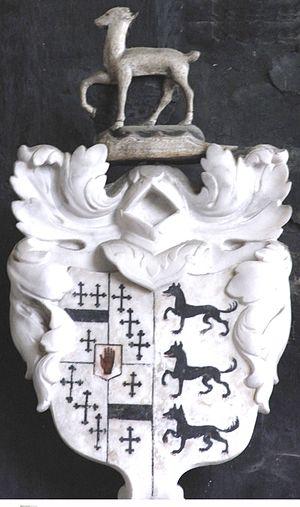 Sir Henry Northcote, 4th Baronet - Image: Northcote Impaling Lovett Tawstock Devon 1730