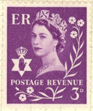 Country definitives - Image: Northern Ireland Stamp 1958 3D