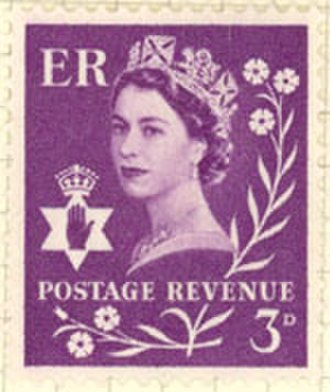 Purple - Image: Northern Ireland Stamp 1958 3D