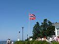 Norwegian flag atop Fløibanen.jpg