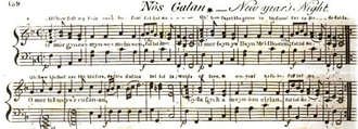 """Deck the Halls - The first known publication of the melody """"Nos Galan"""", from """"Musical and poetical relicks of the Welsh bards"""" (1794) by Edward Jones"""