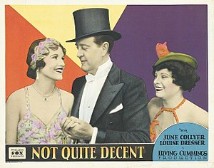 Allan Lane - Lobby card for Not Quite Decent (1929)
