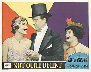 <i>Not Quite Decent</i> 1929 film by Irving Cummings