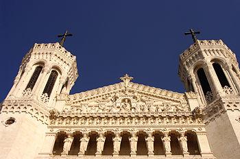 Français : Vue contre plongée Notre Dame de Fr...