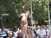 Nudist outdoor sex party