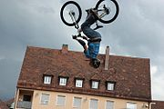 "Fahrer beim ""Red Bull District Ride"