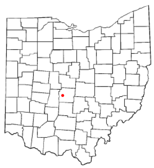 Lincoln Village, Ohio - Image: OH Map doton Lincoln Village