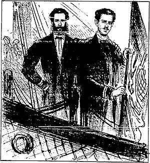 Júlio César de Noronha - Then-second lieutenant Júlio César de Noronha (right), 1865.