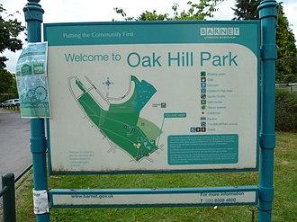 Oak Hill Park (Barnet) - Image: Oak Hill Park, Barnet