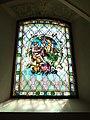 Oberau, Kath. Pfarrkirche hl. Margaretha, Fenster an der rechten Kirchenseite.JPG