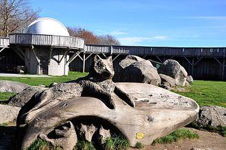Monts de Gueret Animal Park - The observatory in the park