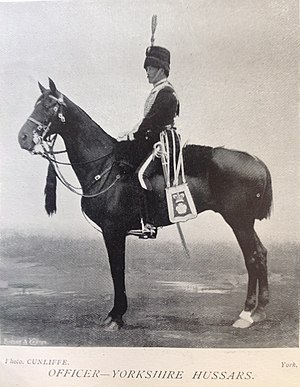 Yorkshire Hussars - Officer, Yorkshire Hussars, 1896