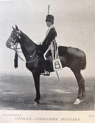 Yorkshire Hussars - Officer, Yorkshire Hussars, 1896
