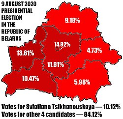 Official results of the Sviatlana Tsikhanouskaya in the presidential election 2020 in Belarus.jpg