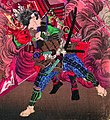 Okubo Hikozaemon rescuing Tokugawa Ieyasu on the battelfield (5759011805) (cropped).jpg