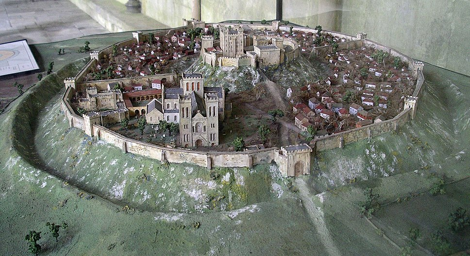 Old Sarum Model from West