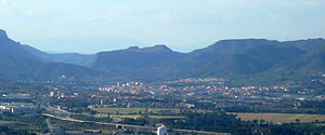 Olesa de Montserrat - Olesa with Sant Salvador de les Espases in background