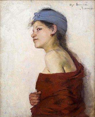 Olga Boznańska - Image: Olga Boznanska Portrait of a woman