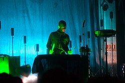 Olof Dreijer of The Knife, in performance (2006).jpg