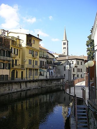 Omegna - A view of the centre of Omegna.