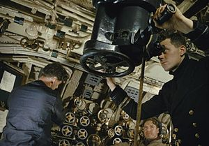 British T-class submarine - On board submarine HMS Tribune in 1942