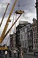 Ontruiming gekraakte flats Prins Hendrikkade Amsterdam door Mobiele Eenheid co, Bestanddeelnr 253-8282.jpg
