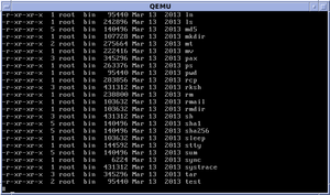 "A long file listing with ""ls -l"" in OpenBSD 5.3"