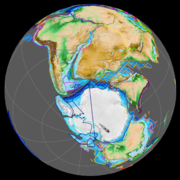 At c. 126 Ma (left) the Falkland Plateau began to slide past southern Africa and the Paraná-Etendeka LIP had opened the Mid-Atlantic Ridge.  At c. 83 Ma (right) the South Atlantic was fully opened and the Romanche Fracture Zone was forming near the Equator.