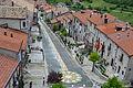 Opi-il Borgo di Opi, visto dal campanile, nel giorno del Corpus Domini.JPG