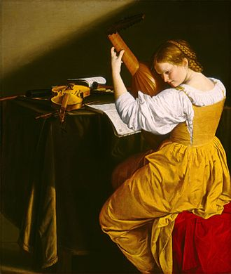 Orazio Gentileschi - The Lute Player by Orazio Gentileschi