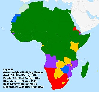 Organisation of African Unity - Image: Organization of African Unity Map