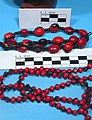 Ormosia coccinea + Abrus precatorius, threaded seeds with beads 1.jpg