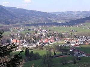 Grünau im Almtal - Image: Ort Grünau