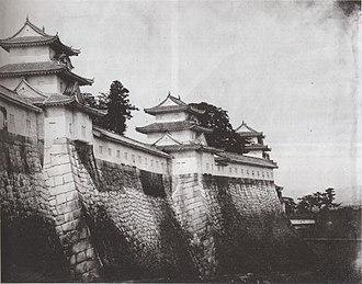 Fall of Osaka Castle - Osaka Castle rampart in 1865