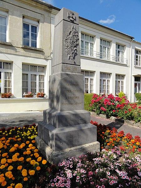 Osly-Courtil (Aisne) monument aux morts