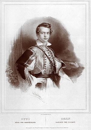 Otto of Greece - A portrait by Gottlieb Bodmer