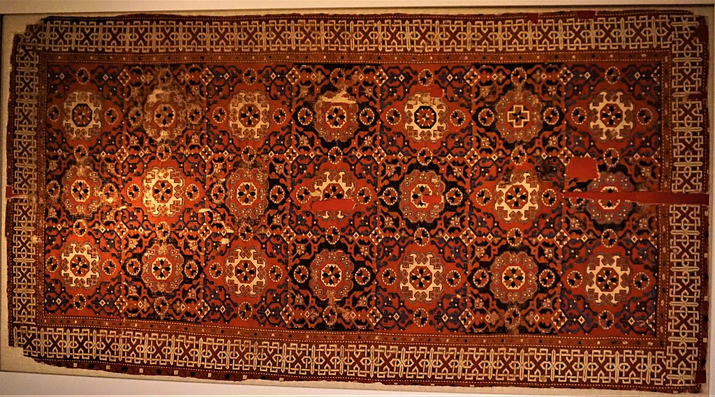 Ottoman Small Pattern Holbein Knotted Carpet - Pergamon Museum