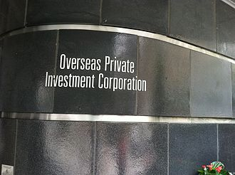 Overseas Private Investment Corporation - The Overseas Private Investment Corporation headquarters plaque in Washington, DC.