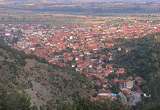 Preševo - Image: Overview of the town of Preševo, Serbia in 2008