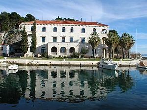 Marjan - The Split Oceanographic Institute, situated on Marjan.