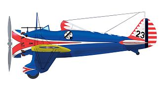 Boeing P-26 Peashooter - Boeing P-26A Peashooter of the 34th Pursuit Squadron 17th Pursuit Group