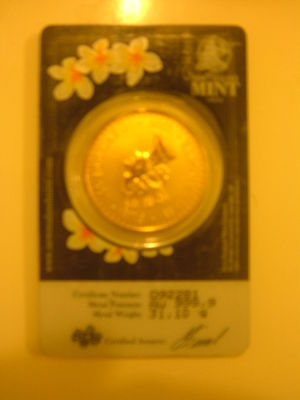 Fijian gold pacific sovereign - back pic