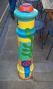Painted Bollard, Winchester 02