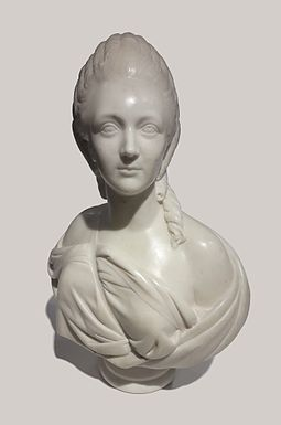 Marble bust of Madame du Barry by Augustin Pajou, 1773, National Museum in Warsaw Pajou Madame du Barry.jpg