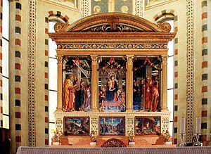 San Zeno Altarpiece (Mantegna) - Image: Pala di San Zeno by Andrea Mantegna San Zeno Verona 2016 (3)